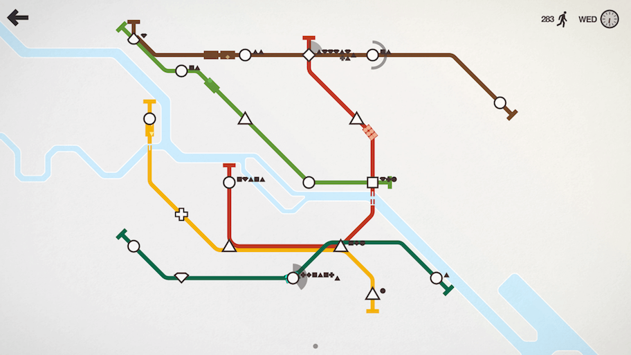 Screenshot from 'Mini Metro'